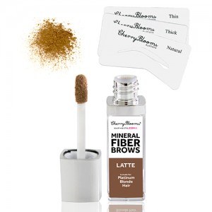 Mineral Fibre Brow Kit with stencils - Latte